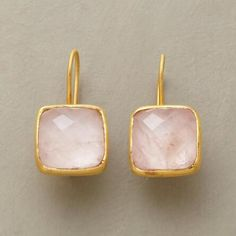 Our exclusive pink quartz earrings endear with their glowing charm.