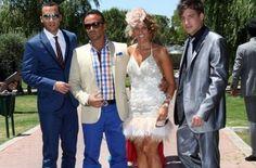 Los looks de la boda de Tamara Gorro y Ezequiel Garay | Luís Rollán, Marta López y Jorge Lecumberri