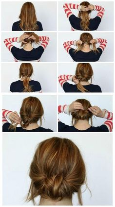 Chic Chignon hairstyle is perfect for you, if you want to special hairdo for a party or occasion. Chignon hairstyle gives a unique look to your hair. Summer Hair Buns, Easy Hair Buns, Braids Easy, Dutch Braids, Diy Hair Bun, Simple Braids, Hair In A Bun, Buns For Short Hair, Summer Braids