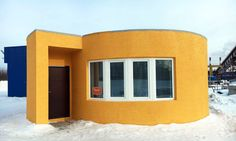 Apis Cor used their mobile 3D-printer to print this tiny house in Russia for just over $10,000.