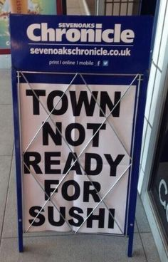 When Sevenoaks wasn't ready for sushi. | 28 Local Newspaper Stories That Shook 2014 To Its Core