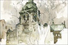 Sketching Notre-Dame-de-Grâce by Marc Taro Holmes