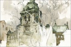 Sketching Notre-Dame-de-Grâce by Marc Taro Holmes