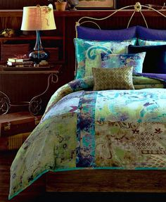 Tracy Porter Skye Full/Queen Duvet Cover Mini Set, Peacock colors