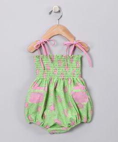 Lime Turtle Bubble Bodysuit - Cotton Blu & Cotton Pink