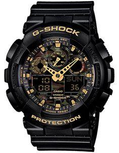 4ab0a2a47cb Casio G-Shock XL Mens Analog Digital Watch - Black   Metallic Camo Dial -  200m