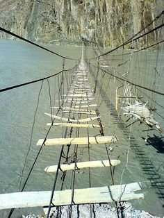 Northern Area, Pakistan Suspension Bridge