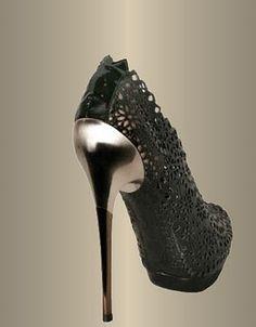 Salvatore Ferragamo's Black Lace design shoe