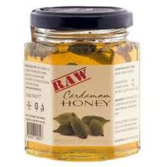 Raw Cardamom Honey Wild Honey, Raw Honey, Nutella, Coconut Oil, Lime, Jar, Organic, Desserts, Food