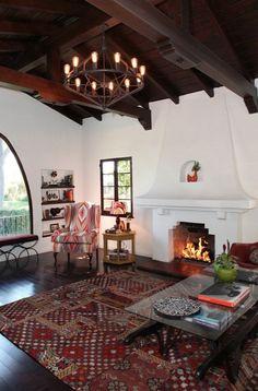 Brown window pane. Spanish Influenced Living Room [ MexicanConnexionforTile.com ] #interior #Talavera #Mexican