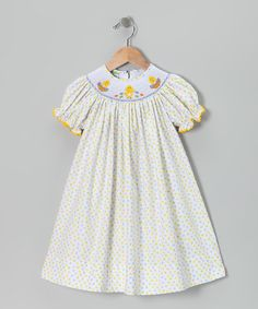 Take a look at this Yellow Chick Bishop Dress - Infant & Girls on zulily today!