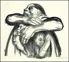 Käthe Kollwitz, Widows and Orphans (1919)