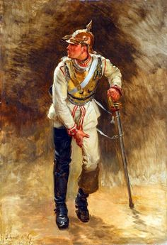 Wounded Prussian Cuirassier Guard