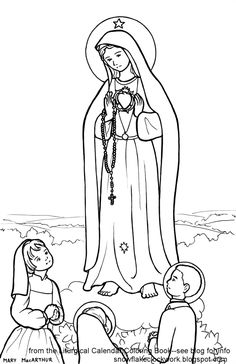 our lady of fatima coloring pages by beth