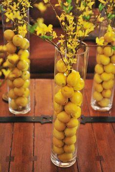 lemons centerpiece - Google Search