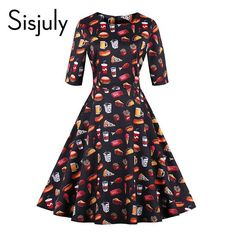 Get an EXTRA 20% OFF ALL Orders with discount code: FWCOM20 #BestPrice #DiscountCode Sisjuly vintage autumn dresses women cute floral food…