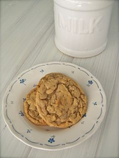 Nothing better than sugar and oatmeal cookies!  Now they are both in 1 cookie!  Yay