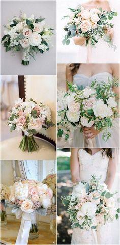 elegant blush pink wedding bouquets #weddingflowers #weddingbouquet #weddingideas #elegantwedding #weddingbouquets