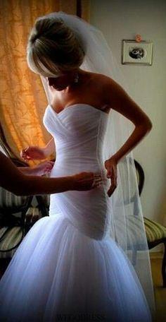Women's Sweetheart Ruched Organza Bridal Gown Mermaid Wedding Dress for Bride Dream Wedding Dresses, Bridal Dresses, Bridesmaid Dresses, Wedding Looks, Wedding Inspiration, Wedding Ideas, Wedding Stuff, Wedding Fun, Mermaid Wedding