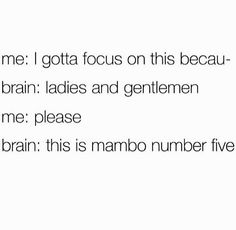 This is mambo number five...