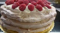 Pavlovovej torta s mascarpone a malinami (fotorecept) - Recept