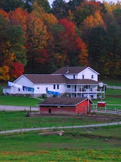 A beautifully kept Amish farm in Smicksburg, PA.