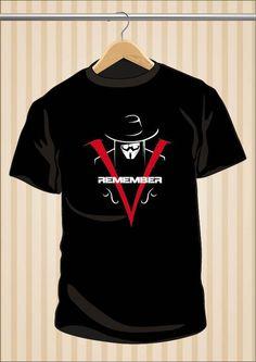 Camiseta V de Vendetta | Remember | Guy Fawkes | Camiseta #VdeVendetta #VForVendetta #TShirt #Tee #Art #Design con envío #gratis sólo en www.UppStudio.com