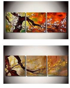 Multi Canvas Painting, Canvas Paintings For Sale, 3 Piece Canvas Art, Acrylic Painting Flowers, Abstract Canvas Art, Hand Painting Art, Large Painting, Painted Canvas, Flower Paintings