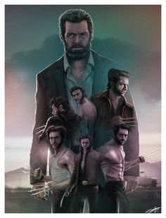 Awesome Wolverine montage from X-Men to Logan Marvel Comics, Films Marvel, Marvel Heroes, Captain Marvel, Captain America, Logan Wolverine, Wolverine Art, Wolverine Claws, Movie Posters