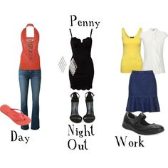 """""""Penny (Big Bang Theory) Inspired Looks"""" by ashley-nicole-parris on Polyvore"""