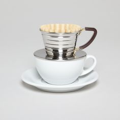 A very stylish way to filter a cup of joe for one.