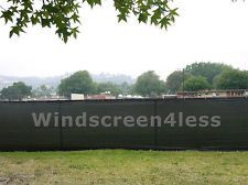 Black 6'x50' Privacy Screen Mesh Fence Cover Windscreen Fabric Slat Yard Garden