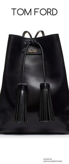 Black Tom Ford Tassel Bucket Bag. Gorgeous!