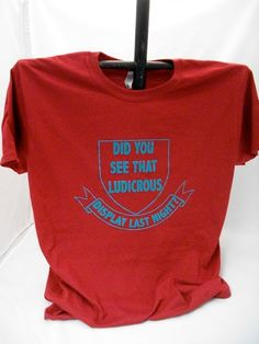 Ludicrous Display TShirt by Geekiana on Etsy--idea for displaying teeshirt for craft show