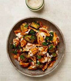 Yotam Ottolenghi's pasta shells with burnt aubergine and tahini. Yotam Ottolenghi, Ottolenghi Recipes, New Recipes, Cooking Recipes, Healthy Recipes, Recipies, Recipes Dinner, Healthy Food, Gourmet