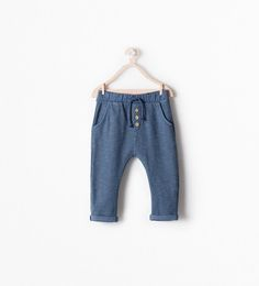 Image 1 of DOUBLE-SIDED TEXTURED TROUSERS from Zara 9-12 months