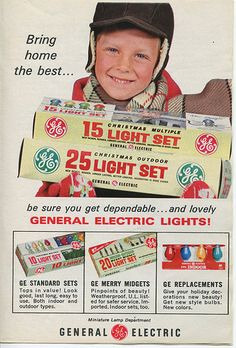 GE 1968 Christmas lights ad from TV Guide