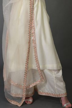 Ivory Resham Gota Patti and Pearl Beads Farshi Palazzo Suit Designer Dress For Men, Designer Party Wear Dresses, Indian Designer Suits, Kurti Designs Party Wear, Embroidery Suits Punjabi, Embroidery Suits Design, Pakistani Dress Design, Pakistani Outfits, Salwar Suits Party Wear