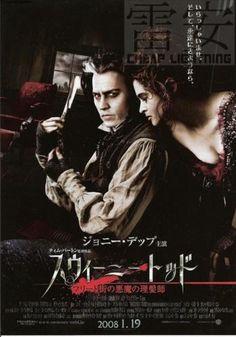 Sweeney Todd Tim Burton Depp Japan Poster Chirashi C215