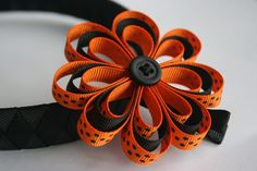 LOVE this ribbon flower!