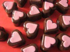 Srdíčkové dortové bonbóny pro maminku