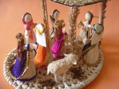 Nativity Scene Mexico House Corn Husk