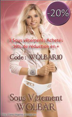 Promo - 20 % sur tous les produits WOLBAR. Si 3 produits achetés + 10 % de remise  Sous Vêtements - Ropa Intima - Underwear #lingerie #lenceria #Culotte #Braga #Brief #Microfibre #Wolbar #Shorty #Panty #String #Tanga #Thong