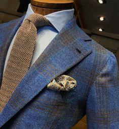 Red coat over navy blue pinstripe suit. #wedding #groom #groomsmen #bespoke #mensfashion #fallfashion #winterfashion #gentlemen #suits #business #giorgentiweddings #menswear #menstyle