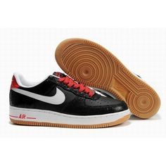 low priced ed8f7 4b0af Nike Air Force 1 One Low Lizard Women Black White Shoes 1008 For 62.50 Go  To