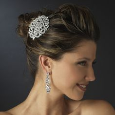 Free shipping on Austrian Crystals & Rhinestone #Headband! A gorgeous #hairaccessory for any hairstyle; perfect for any #bride or #bridesmaid! #wedding #jewelry #weddingplanning #bridetobe