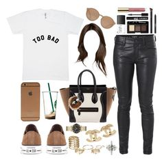 """Too bad."" by perfectiongod ❤ liked on Polyvore featuring Converse, Isabel Marant, Neil Barrett, French Connection, Linda Farrow, CÉLINE, NARS Cosmetics, LORAC, H&M and Chanel"