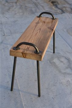 Stool Idea.2 handles, 4 legs, piece oak, lovely.