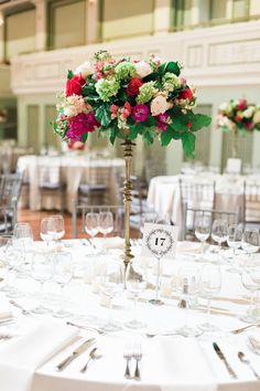 Elegant Colorful Centerpieces | By Shea Photography