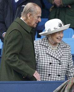 Queen Elizabeth II and Prince Philip, Duke of Edinburgh arrived to the Longines FEI European Eventing Championship at Blair Castle, Perthshire